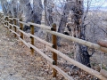 Pole and rail fence