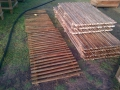 wooden fencing sections